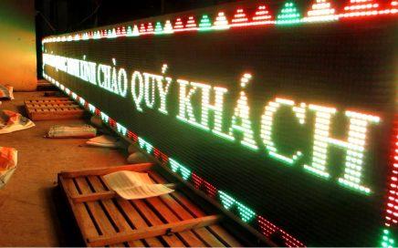 Làm bảng hiệu đèn led quảng cáo ma trận tại Quảng Ngãi