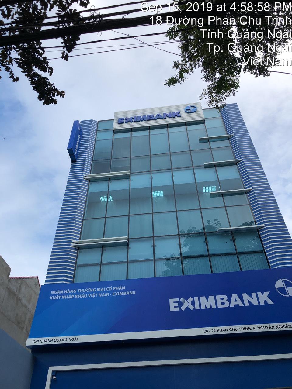 Thi công bảng hiệu Quảng cáo ngân hàng Eximbank Quảng Ngãi